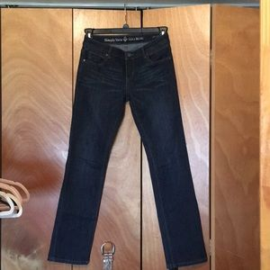 Simply Vera Wang Roll cuff capris jeans size 2